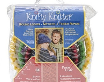 Knifty Knitter Provo CraftROUND LOOM, SET OF 4