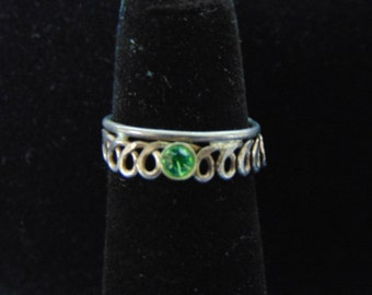 Womens Vintage Estate .925 Sterling Silver Toe Ring 1.6g, E2539