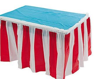 Carnival/ Circus Table Skirt
