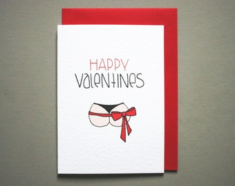 Valentine card boyfriend * husband valentine card * funny happy valentine * naughty valentine * valentine's day * size A6 with red envelope