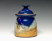Lidded Jar, Pottery Sugar Bowl, Stoneware Storage Jar