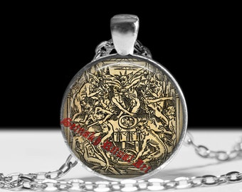 Devil jewelry Witch jewellery Occult necklace Witchcraft pendant #430