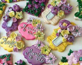 Gorgeous hand piped cookies