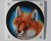 Fox Christmas Card, Animal Holiday Card, Seasons Greetings, Merry Xmas