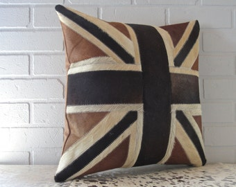 New real cowhide pillow - free shipping in Canada and USA.