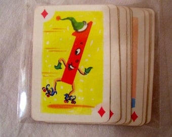 Whitman Crazy Eights Game Cards -11 Mini atureCards-#1-#11 DESTASH