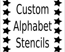 Alphabet Stencil - Letter Stencil - Any Font -  Small to Large Reusable - Mylar - For Signs,  Fabric, Large Wall Art,Weddings, Businesses
