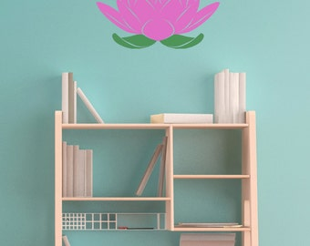 Lotus Flower Stencil in reusable Mylar  small to large stencil up to 19.5 x 27.5 inches 500 x 700mm. Wall, Fabric,Furniture Stencil, F