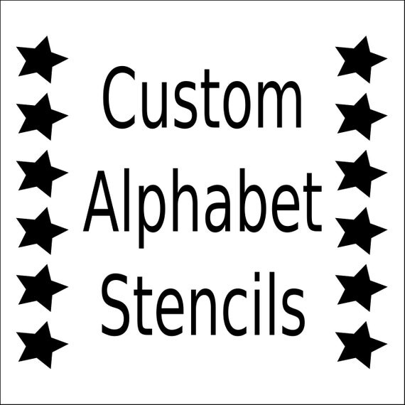 Alphabet stencil letter stencil any font small to large like this item spiritdancerdesigns Images