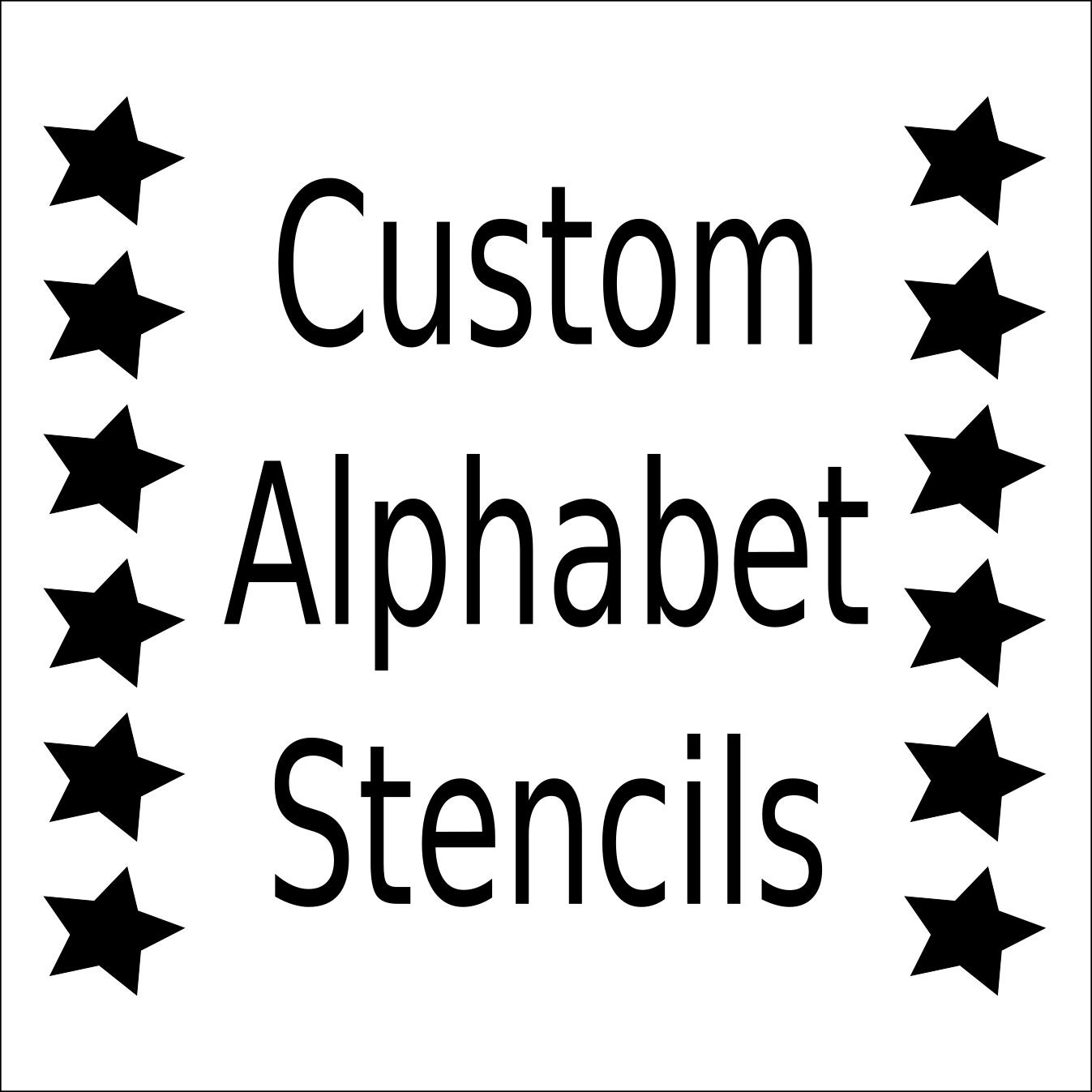 Alphabet Stencil Letter Stencil Any Font Small To