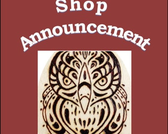 Shop Announcement - Made To Order Listings Return Mid-February