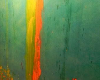"Photo Abstract Title ""Splash Of Orange #1"""