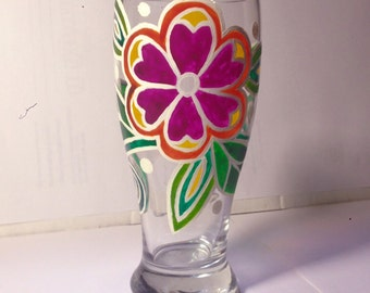 Vibrant, colorful, hand painted glass