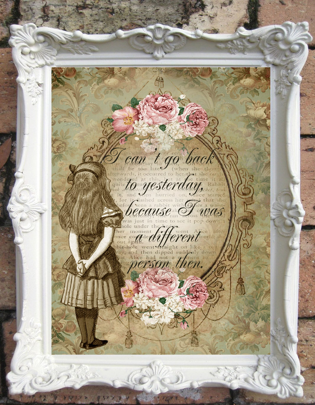 alice in wonderland quote art print alice in wonderland. Black Bedroom Furniture Sets. Home Design Ideas