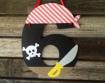 Pirate Party Paper Sign- Under the Sea Party Decorations, Beach Party, Birthday Party, Photo Prop