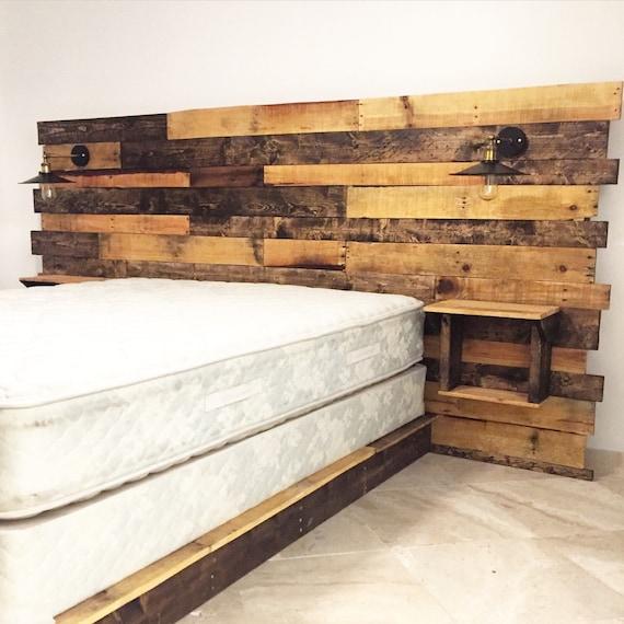 rustic headboard reclaimed headboard queen headboard by cecustoms. Black Bedroom Furniture Sets. Home Design Ideas