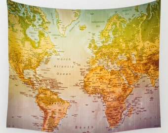 world map world map tapestry colorful world map world artwork colorful art