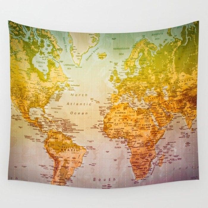 carte du monde tapisserie carte monde carte du monde color. Black Bedroom Furniture Sets. Home Design Ideas