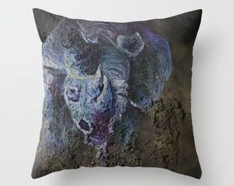 Charging Rhino Pillow