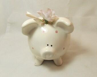 Ceramic Enesco Pig Piggy Bank. Made in Taiwan. 5-701.*FREE SHIPPING*