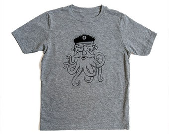 "Nauti-Kids ""SeaBeard"" Nautical Octopus YOUTH T-Shirt"