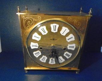 Vintage Mid Century Howard Miller Clock / Howard Miller / Clock / Mantel Clock /  Mid Century Clock / West Germany