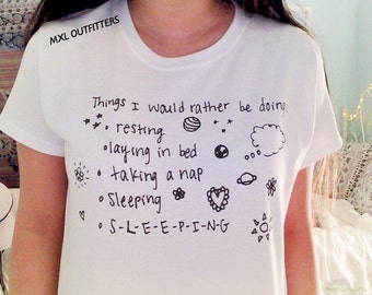 Things I would rather be doing doodle t-shirt © Design by Maggie Liu