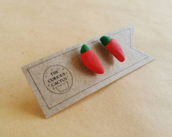 Chillies - Polymer Clay Sterling Silver Earrings