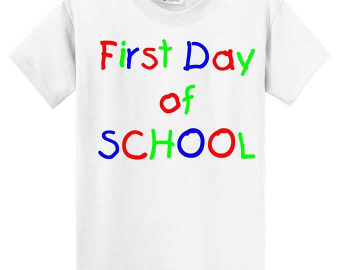 First Day of School T Shirt - buy adult size and get your child's picture every first day!!   Why didn't I do this with my first child!
