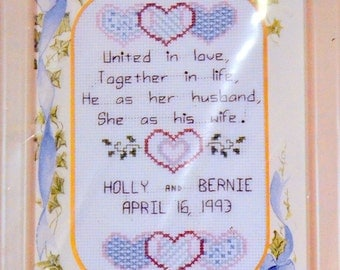 Wedding Announcement Counted Cross Stitch Kit
