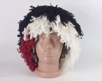 Handmade Crochet yarn Hair Wig, Babies, Kids and Adult, Wig hat by LoveKnittings