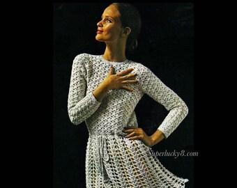 Vintage Dress Crochet pattern in PDF instant download version