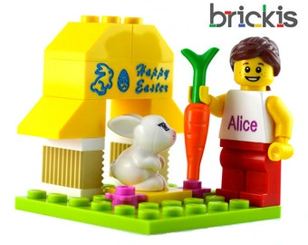 Personalized LEGO® bricks HAPPY EASTER set engraved personalised