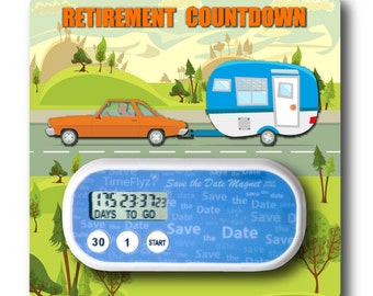 Retirement Countdown Clock & Embellished Card