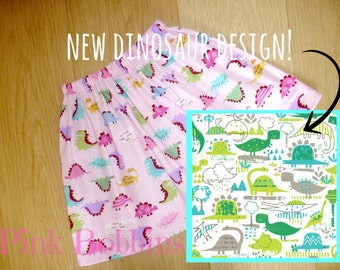 Dinosaur skirt! Ideal for tomboys or girls who just love dinosaurs! Age 0-6 years. Limited edition designer fabric.