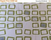 20% Off Reel Time Fabric by Zen Chic for Moda! Yardage, Geometric TV Screens in Chalk and Green, Dots and Circles