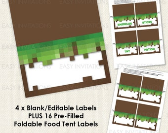 Printable DIY Food Labels