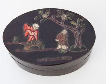Vintage Asian Lacquer Box