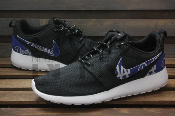 wtmza Los Angeles Dodgers Nike Roshe Run Black Custom Men & by NYCustoms