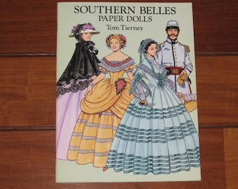 1993 Southern Belles Paper Doll Book by Tom Tierney (Uncut)