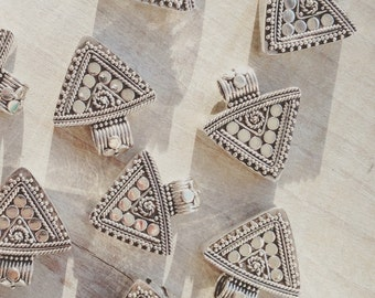 Sterling silver triangle pendant