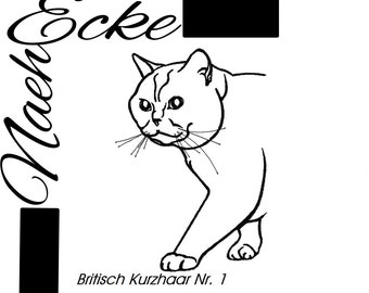Embroidery british Shorthair 1