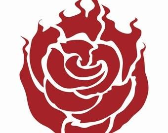 RWBY Ruby Symbol Decal Vinyl Logo