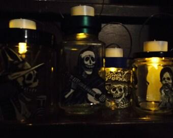 Day of the Dead (Dia de Los Muertos) 4 Posada's Art Lanterns Nightlight
