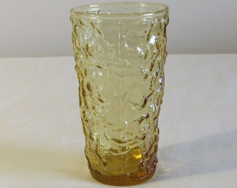 Aztec Gold Drinking Glass, Anchor Hocking Milano Lido Crinkle Glass, Crinkle Glass Tumbler, Replacement Glass, laslovelies