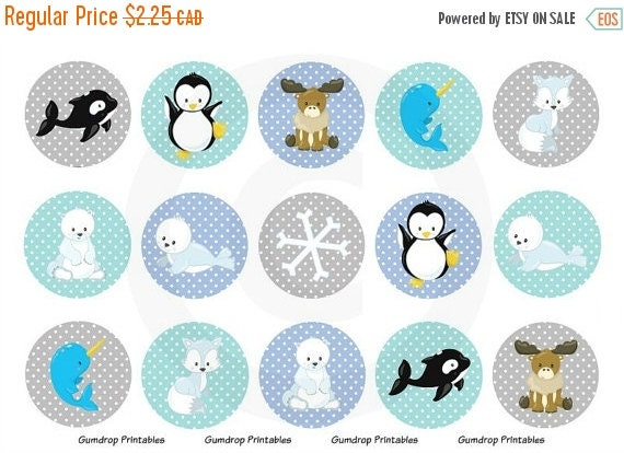 25 off arctic animals bottle cap images by gumdropprintables Depot outlet bochum
