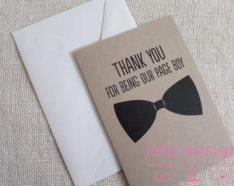 Thank You For Being Our Page Boy  - Attendant Card