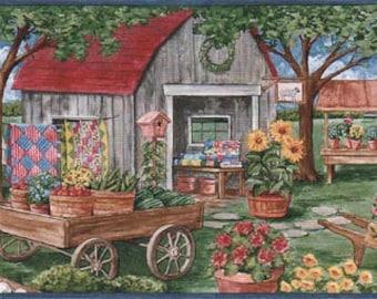 Farm Market Laundry Line AFR7132 Wallpaper Border
