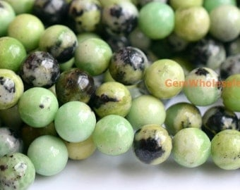 """15.5"""" Chinese Green Opal  6mm/8mm/10mm round beads, high quality semi-precious stone, green color gemstone, Chinese Green Opal  round beads"""