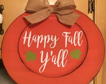 Fall decor charger plate
